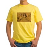 Cheetah On The Move Yellow T-Shirt