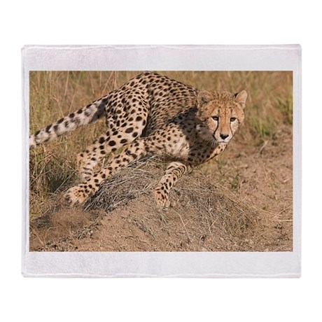 Cheetah On The Move Throw Blanket