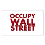 Occupy Wall Street Sticker (Rectangle 10 pk)