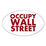 Occupy Wall Street Sticker (Oval 10 pk)
