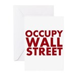Occupy Wall Street Greeting Cards (Pk of 20)