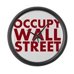 Occupy Wall Street Large Wall Clock