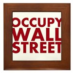 Occupy Wall Street Framed Tile