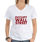 Occupy Wall Street Women's V-Neck T-Shirt