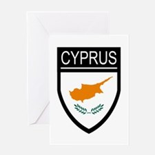 Cyprus Flag Patch Greeting Card