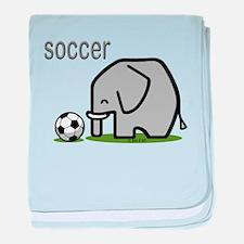 Soccer Elephant baby blanket
