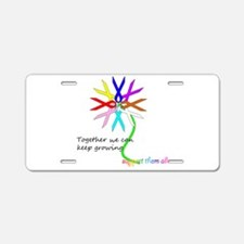 Support All Cancer Aluminum License Plate