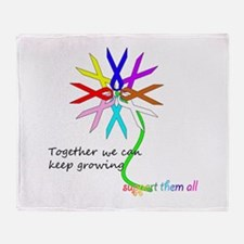 Support All Cancer Throw Blanket
