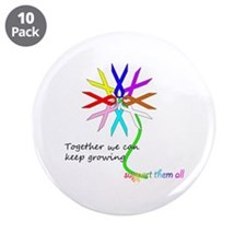 """Support All Cancer 3.5"""" Button (10 pack)"""