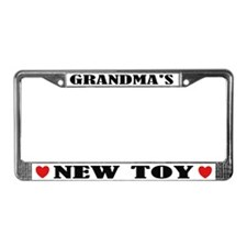 Grandma's New Toy License Plate Frame