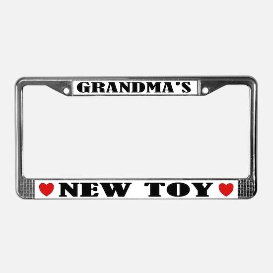 Grandma's New Toy License Plate Frame