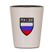 Russia (in Russian) Patch Shot Glass