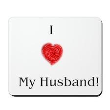 I heart My Husband Mousepad