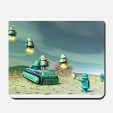 Robot Invasion From Above Mousepad