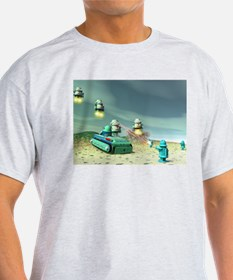 Robot Invasion From Above T-Shirt
