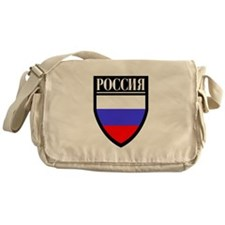 Russia (in Russian) Patch Messenger Bag