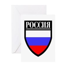 Russia (in Russian) Patch Greeting Card