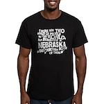 Nebraska (Funny) Gift Men's Fitted T-Shirt (dark)