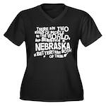 Nebraska (Funny) Gift Women's Plus Size V-Neck Dar