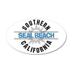 Seal Beach California 22x14 Oval Wall Peel