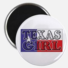 Texas Girl with Flag Magnet