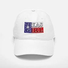 Texas Girl with Flag Baseball Baseball Cap