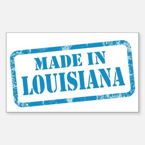 MADE IN LOUISIANA Sticker (Rectangle)