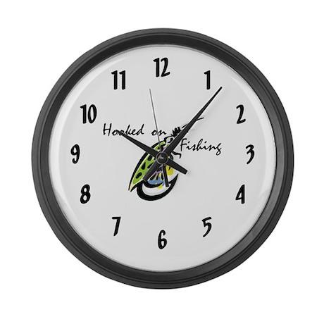 Fishing Large Wall Clock