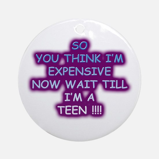 Expensive teen Ornament (Round)