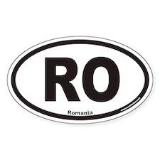 Romania RO Euro Oval Decal