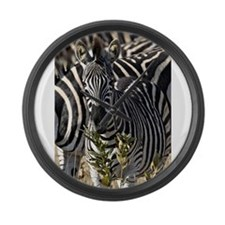 Zebras Large Wall Clock