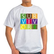Kidney Cancer Survivor Tile T-Shirt