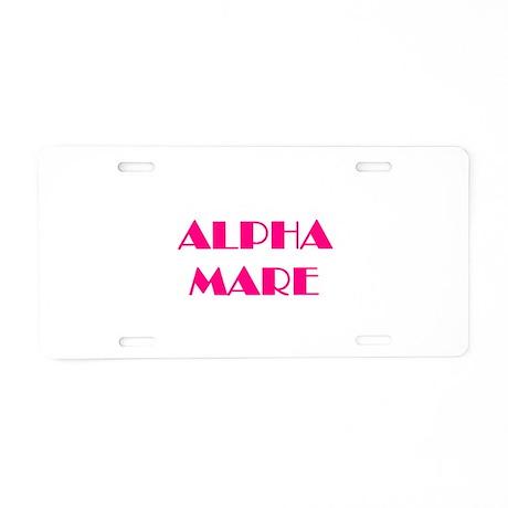 Alpha Mare Aluminum License Plate