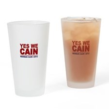 Yes We Cain 2012 Drinking Glass