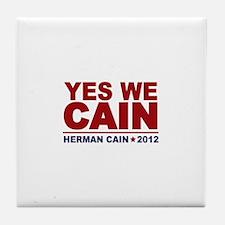 Yes We Cain 2012 Tile Coaster