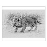 Lion Cub Stalking Small Poster