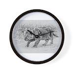 Lion Cub Stalking Wall Clock