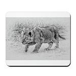 Lion Cub Stalking Mousepad