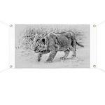 Lion Cub Stalking Banner