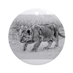 Lion Cub Stalking Ornament (Round)