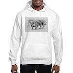 Lion Cub Stalking Hooded Sweatshirt