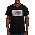 Lion Cub Stalking Men's Fitted T-Shirt (dark)