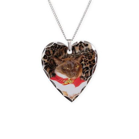 FPG Xmas Cat II Necklace Heart Charm