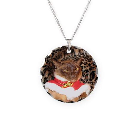 FPG Xmas Cat II Necklace Circle Charm