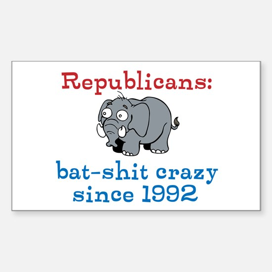 Bat-shit Crazy GOP Sticker (Rectangle)