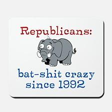 Bat-shit Crazy GOP Mousepad