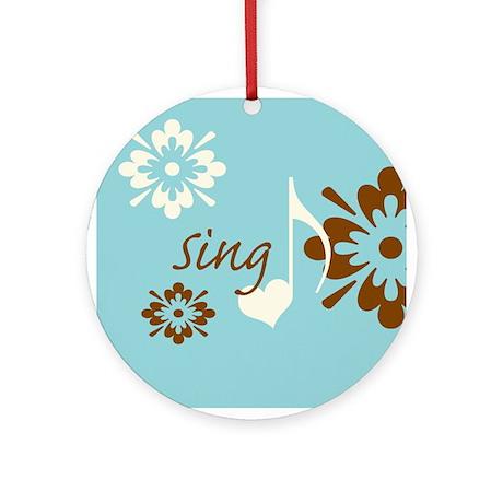 Sing Ornament (Round)