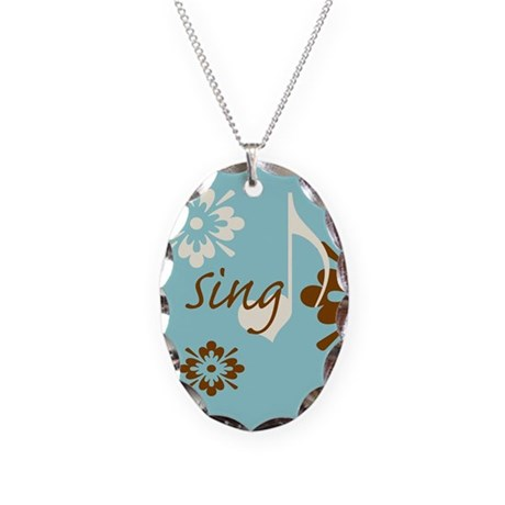 Sing Necklace Oval Charm