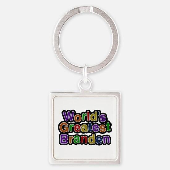World's Greatest Branden Square Keychain
