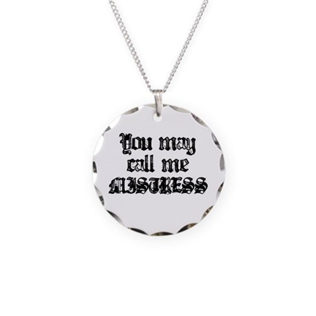 Mistress Black Necklace Circle Charm
